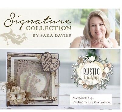 Sara Signature RUSTIC WEDDING Dies Accessories & Paper By Crafters Companion