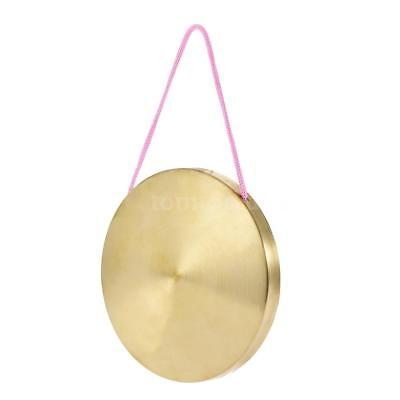 15cm Hand Gong Kids Cymbals Brass Copper Percussion with Round Play Hammer C8M3