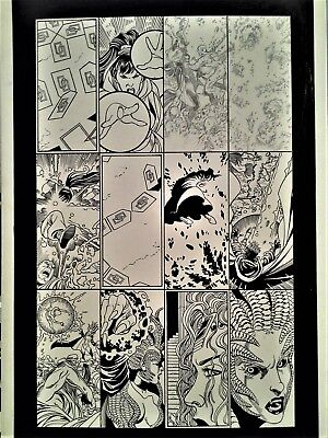 George Perez original art - CrossGen Chronicles - STUNNING action page!