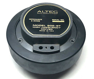 Vintage Altec Lansing Model 802-8T Single Driver No Diaphragm Included - AS IS