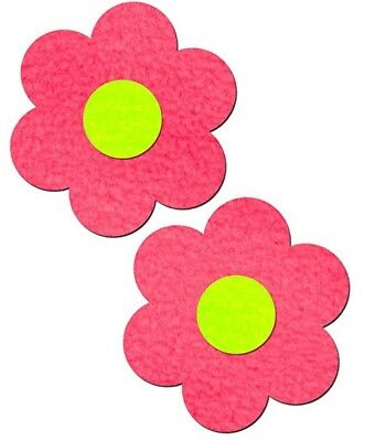 Neon Pink Daisy with Neon Yellow Center Nipple Pasties by Pastease o/s