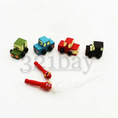 Miniature Wooden Toys for Dollhouse 1:12 Scaled Wood Toy Car 1 Inch Scaled 1to12