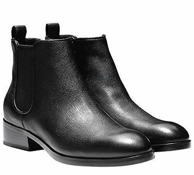 NEW Cole Haan Women's Black Leather Landsman Short Ankle Boot Booties