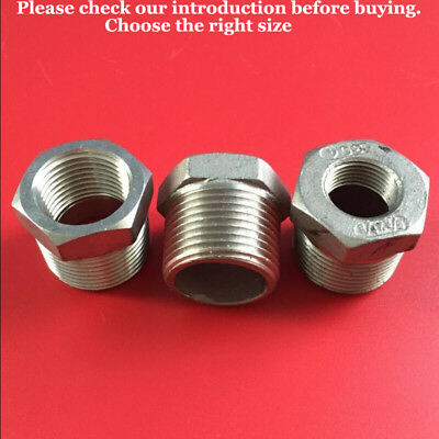304 Stainless Steel Male to Female Bsp BSPT Reducing Bushes Adaptor UK