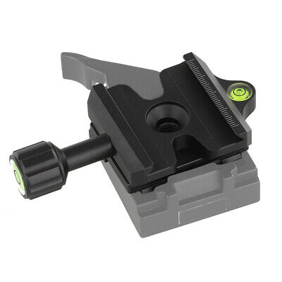 Black Quick Release QR Clamp Adapter for Manfrotto to Arca-Swiss Compatible New