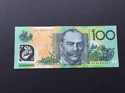 $100 1996 Fraser/Evans  Test Note AP96  very scarce !!!! aEF/EF