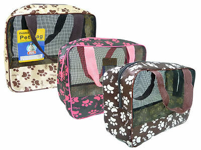 """1x Pet Carrier Soft Sided Cat / Dog Puppy Comfort Travel Bag 9"""" x 8.7"""" x 4"""""""