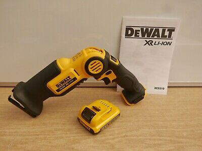 Dewalt Xr Li-On Dcs310 10.8V Mini Recip Saw Bare Unit + Dcb127 Battery & Case