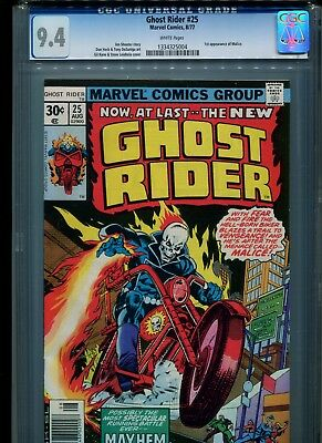 Ghost Rider #25 CGC 9.4 (1977) 1st First Malice White Pages