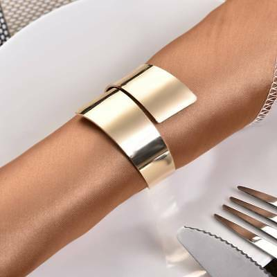 12pcs Silver/Gold Napkin Ring Hoop Serviette Holder Wedding Party Banquet Dinner