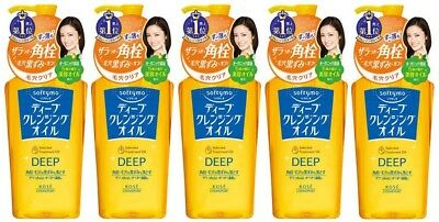 5 pcs KOSE Softymo Deep Cleansing Oil 230mL from Japan
