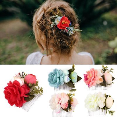Bridal Girl Flower Hair Comb Floral Hairpin Wedding Accessories Hair Jewelry