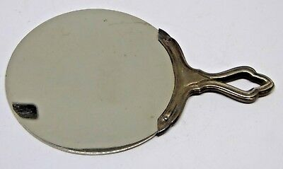 An Attractive Vintage Silver Handled Hand Mirror in Sleeve