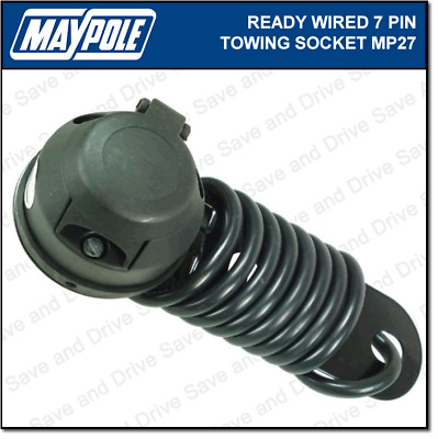 Maypole Pre-Wired 7 Pin 12N Towing Socket & Cable Trailer Caravan Electrics MP27