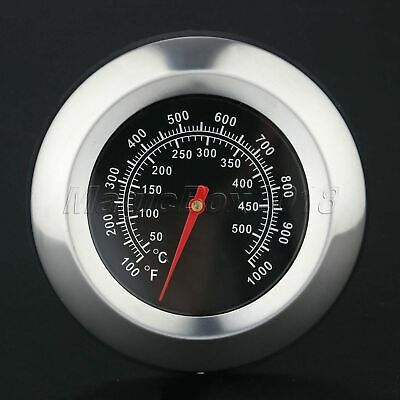 100-1000℉ Outdoor Cook Barbecue BBQ Smoker Grill Thermometer Temperature Gauge