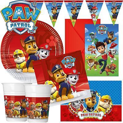 Paw Patrol Birthday Party Tableware Chase Boys Girls Decorations Plates Napkins