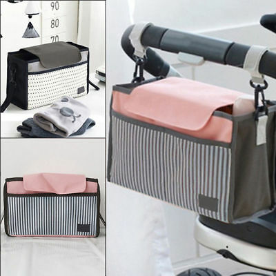 US Stock Strollers Organizer Basket Pushchair Baby Diaper Mother Expanded Bag