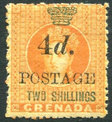 GRENADA-1888-91 4d on 2/- Orange Sg 41 MOUNTED MINT V22795
