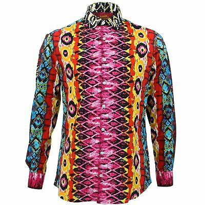 Mens Shirt Loud Originals TAILORED FIT Polka Dots Red Retro Psychedelic Fancy