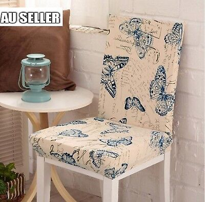 Super Fit Removable Chair Cover Dining Room Seat Protector Slipcover Stretch