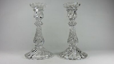 Paire De Bougeoirs Cristal Baccarat Bambou Pair Of Crystal Candlesticks Bamboo