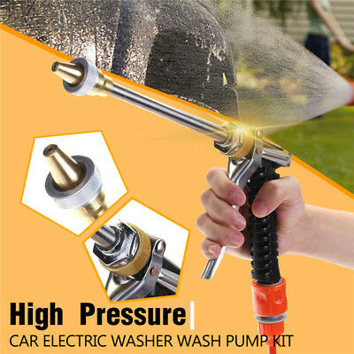 100W 160PSI High Pressure Car Electric Charger Washer Brush Wash Pump Pipe 12V