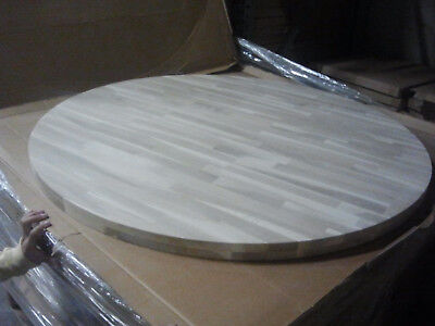 "36"" Round Solid Oak Restaurant Table top (Eased Edge) with Quick Ship-unfinished"