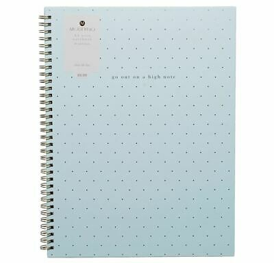 WHSmith Blue A4 Wide Ruled Project Notebook 250 White Pages Wiro Bound