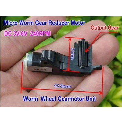 DC 3V-6V 5V 240RPM Mini Worm Gear Motor Micro Gearbox Reduction Wheel Gearmotor
