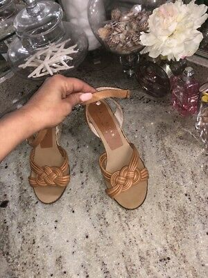 075bbc5d6ca Palomitas by Paloma Barcelo Nude Tan Ankle Strap Wedges Sandals Shoes size  38