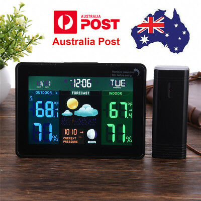 Wireless Weather Station Indoor Outdoor Forecast Temperature Humidity Meter AU