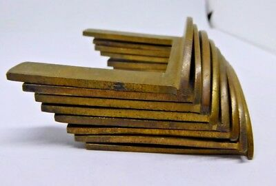 Set of 8 x Antique Brass Table Clips / Fork with 'D' End for Antique Furniture