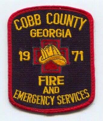 Cobb County Fire and Emergency Services Department Patch Georgia GA O/S USED v1