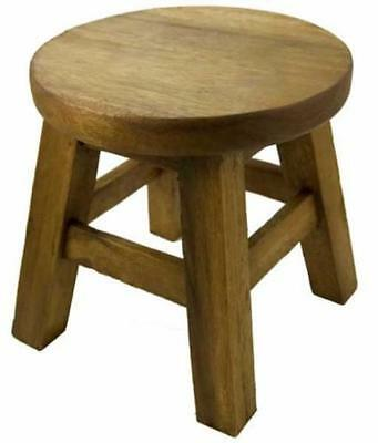Rustic Small Size Sofa Side Table Stool Chair Seat Solid Wood Child Kid Children
