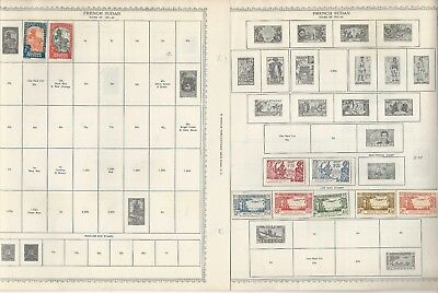 French Colonies Stamp Collection on 6 Minkus Global Pages 1931-1950