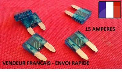 Lot de 5 mini fusibles 15 Amp 15 A auto moto scooter automobile voiture 16x11mm