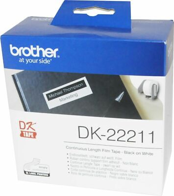 1,6€/1m brother DK-22211 Endlosetikett Etiketten 29mm x 15,24m Filmqualität