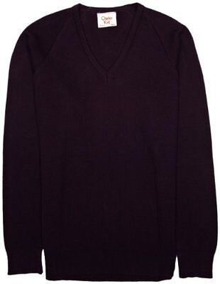 (TG. C28 IN- UK) Viola (Mauve) Charles Kirk Coolflow - Maglia jumper con collo a