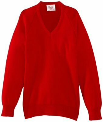 (TG. C38 IN- UK) Rosso (Scarlet) Charles Kirk Coolflow - Maglia jumper con collo