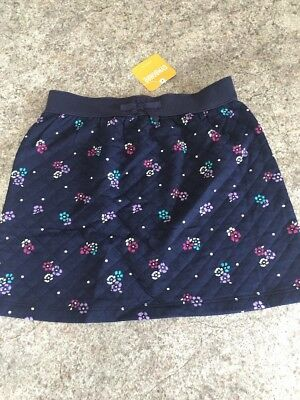 Gymboree Outlet Girls Size 6 Quilted Floral Navy Skirt Summer Spring