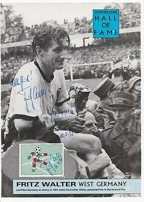 Fritz Walter West Germany 1940-1958 W/cup Winner 1954 Orig Autographed Picture