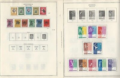 Indonesia Stamp Collection 1947 to 1963 on 12 Minkus Global Pages
