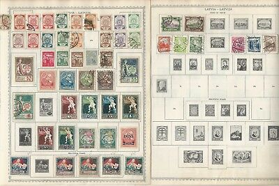 Latvia Stamp Collection 1918-1940 on 4 Minkus Global Pages