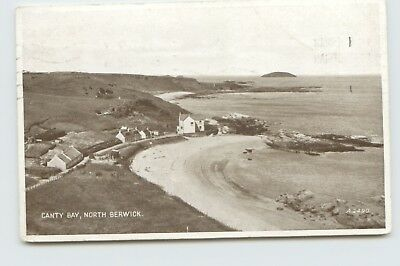 Canty Bay North Berwick A2490 Valentines Carbotone Posted 1938 Postcard BT