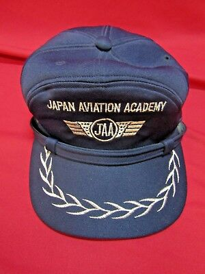 Rare JAA Japan Aviation Academy Pilots Hat Named Lt. Col. Dellas Eaton USAF