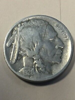 1926-S Buffalo Nickel Semi-Key Date Good Honest Wear! See Pics!