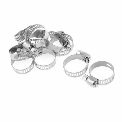 "10 Pcs 1.65""-3.15"" Range Metal Hose Clamp Gator for Worm Drive"
