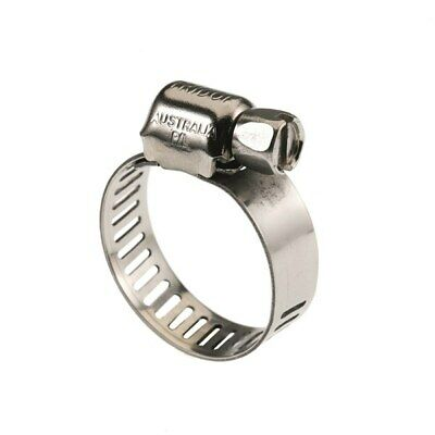 Tridon Hose Clamp 11 - 22mm x 10pc Full Stainless Steel,  Perforated Band