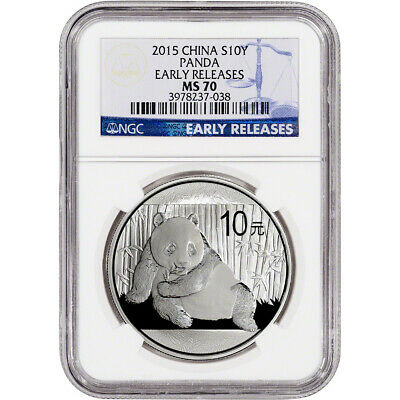 2015 China Silver Panda (1 oz) 10 Yuan - NGC MS70 - Early Releases