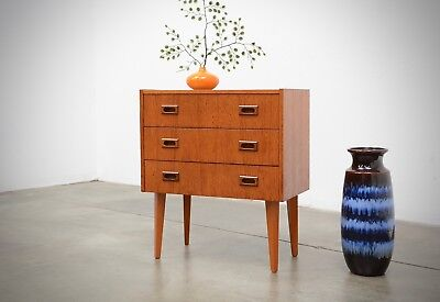 1950s Vintage Danish Modern Teak Chest Drawers Table Night Stand Etc Mid Century